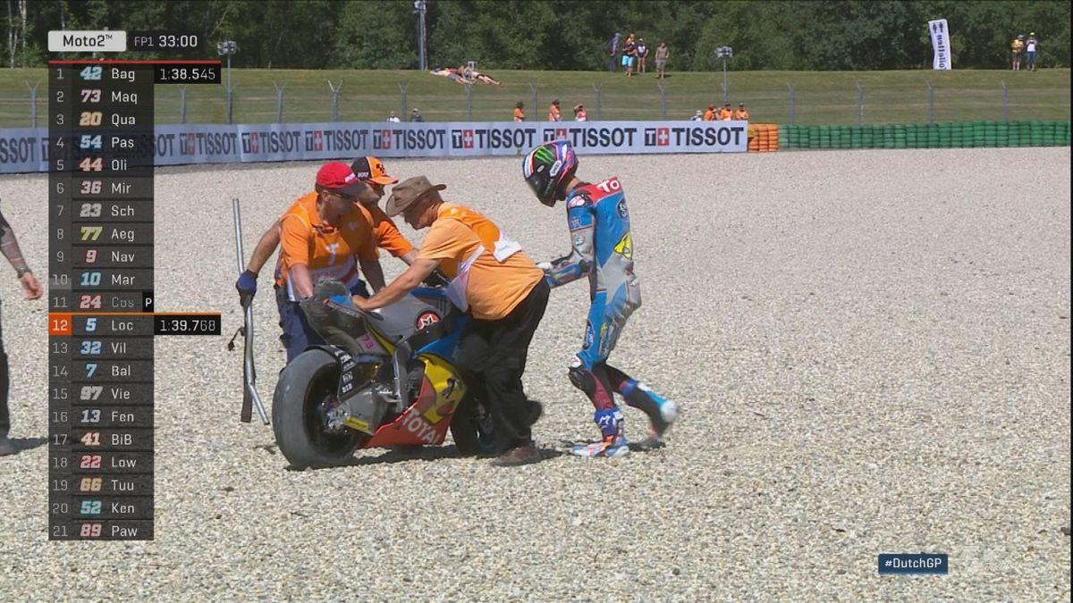 Moto 2 - Crash Alex Marquez