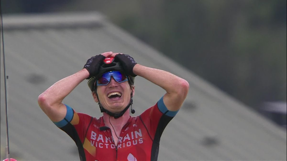 Highlights: Delighted Padun wins Stage 7 as Porte seizes yellow