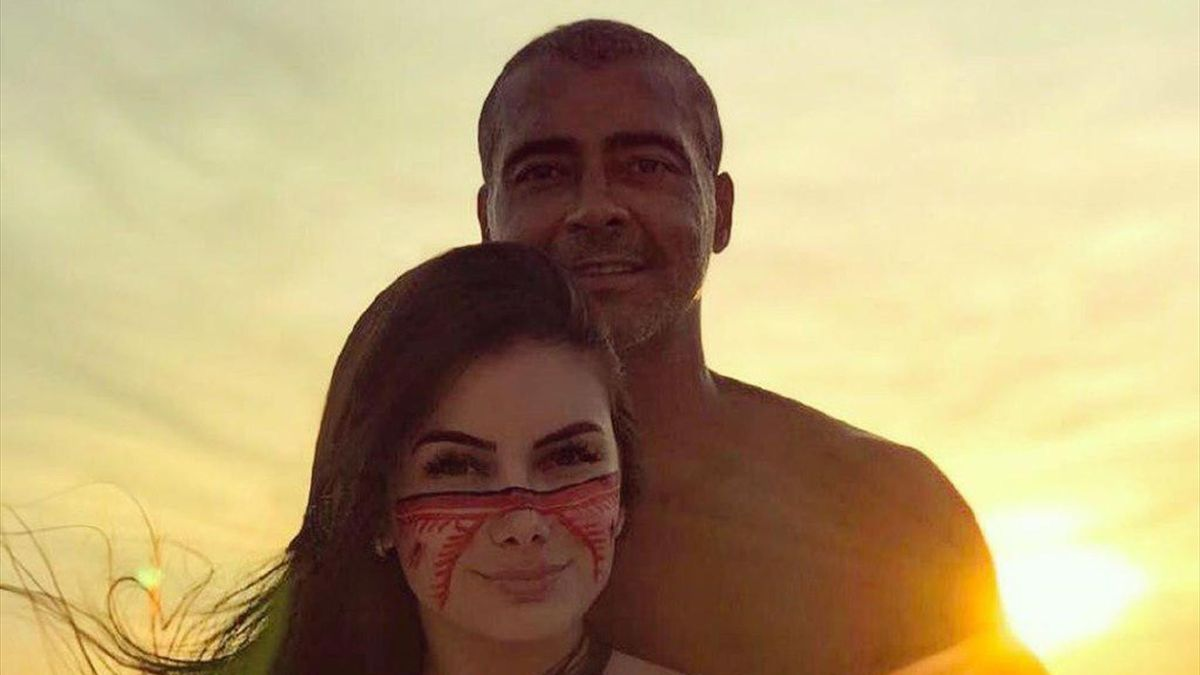 Ромарио со своей девушкой