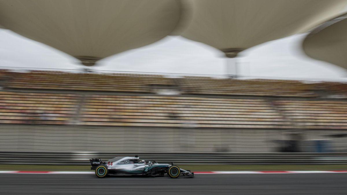 Lewis Hamilton (Mercedes) au Grand Prix de Chine 2018