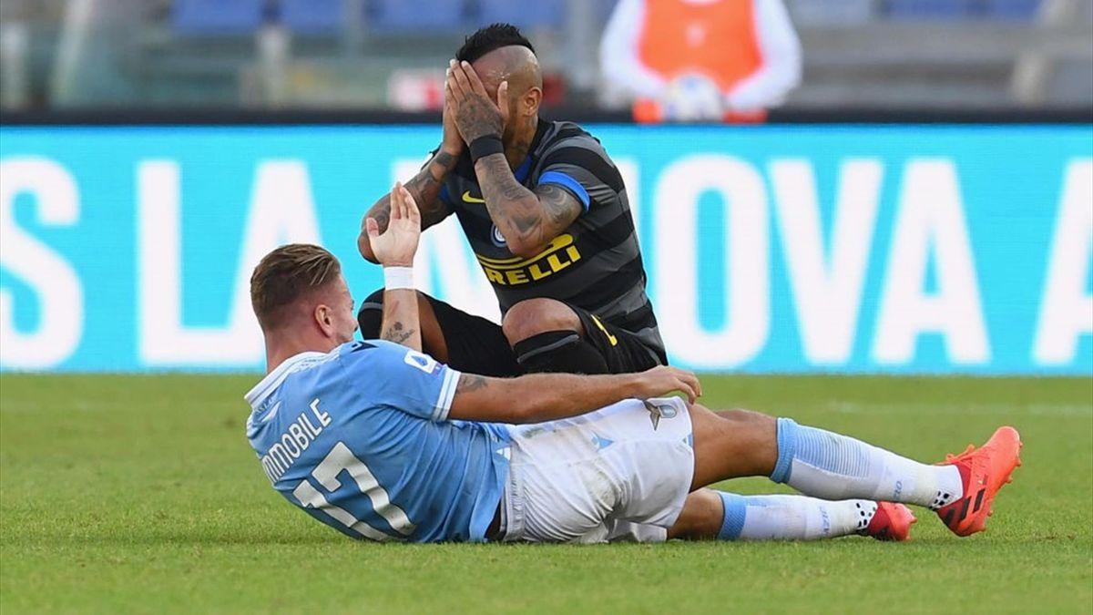 Rosso a Immobile in Lazio-Inter