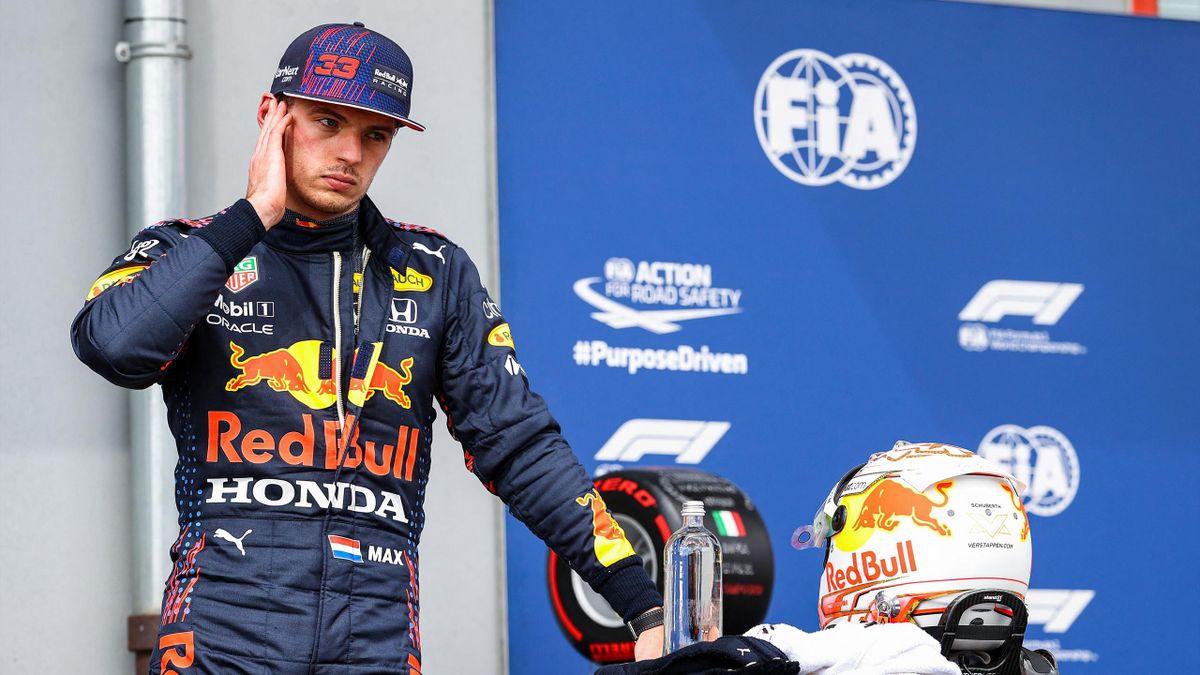 Red-Bull-Pilot Max Verstappen nach dem Qualifying in Imola