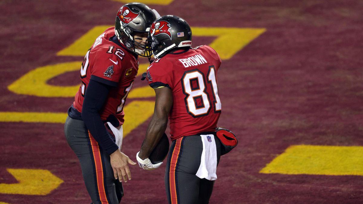 Tom Brady et Antonio Brown (Tampa Bay)