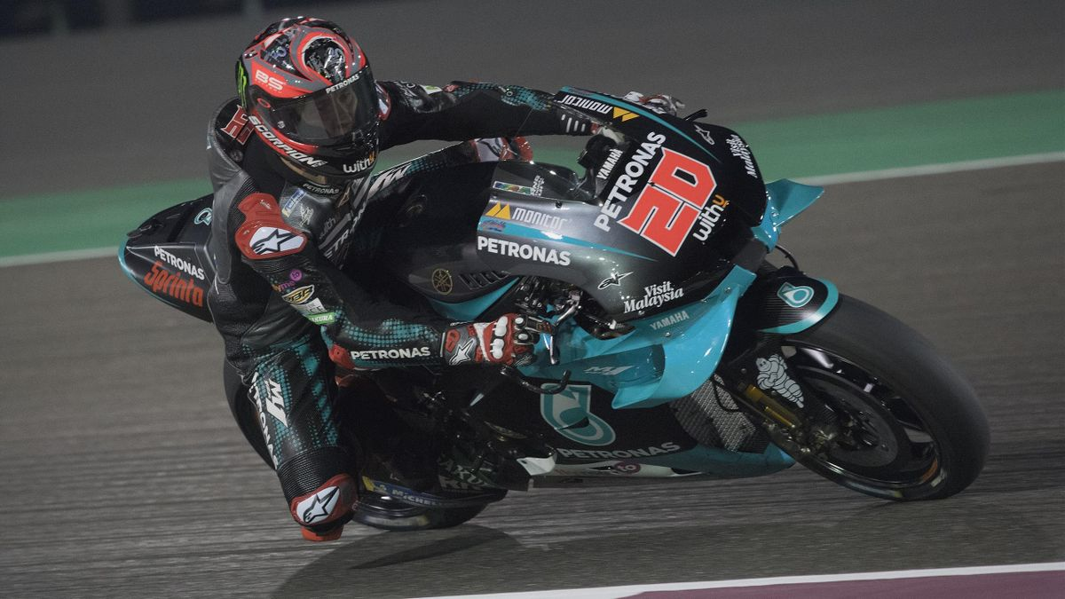 Fabio Quartararo lors du Grand Prix du Qatar en 2020