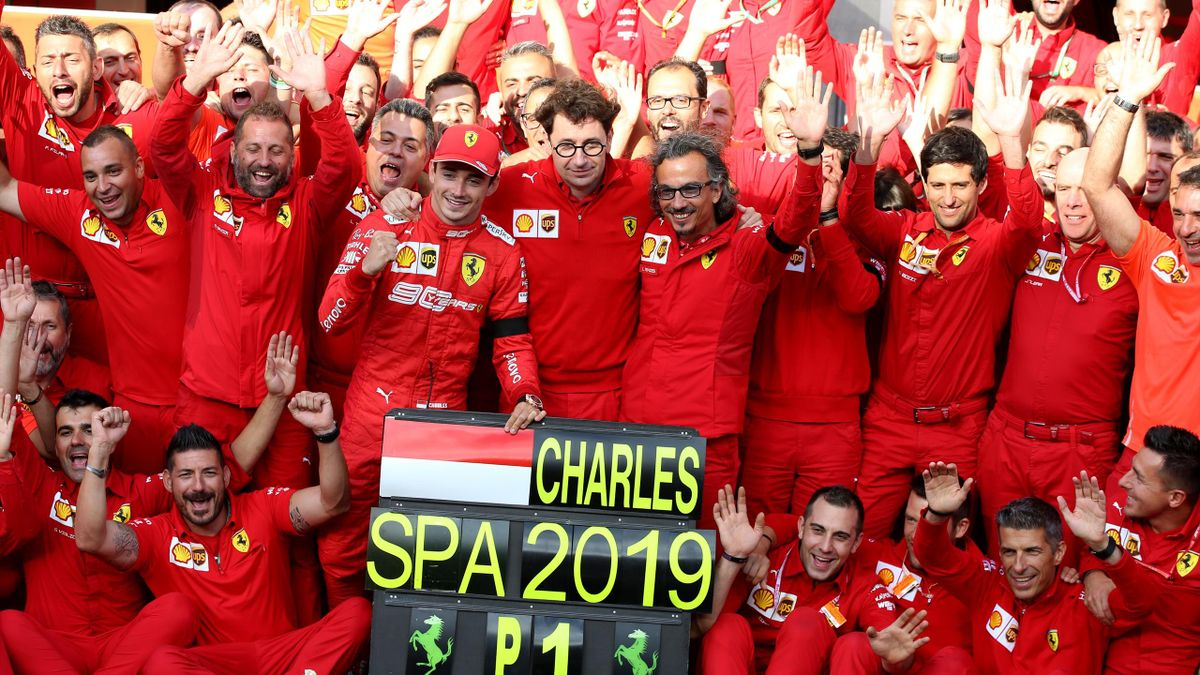 Leclerc, Binotto, Ferrari - GP SPA 2019 - Getty Images