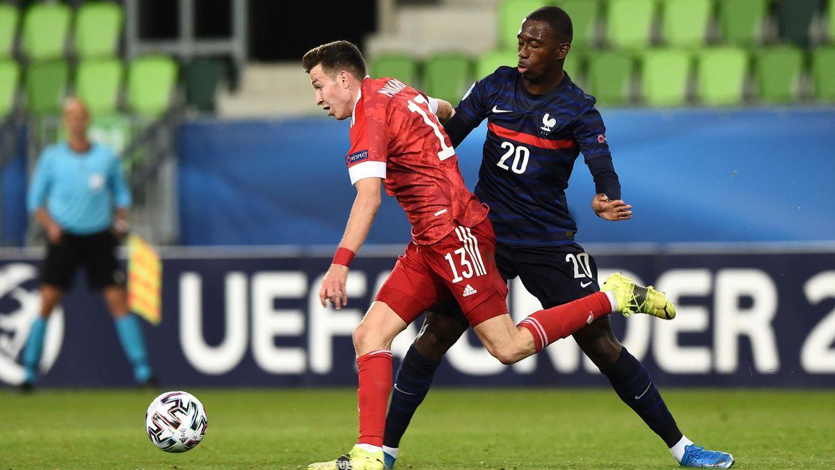Бубакари Сумаре и Денис Макаров, Россия U-21 – Франция U-21