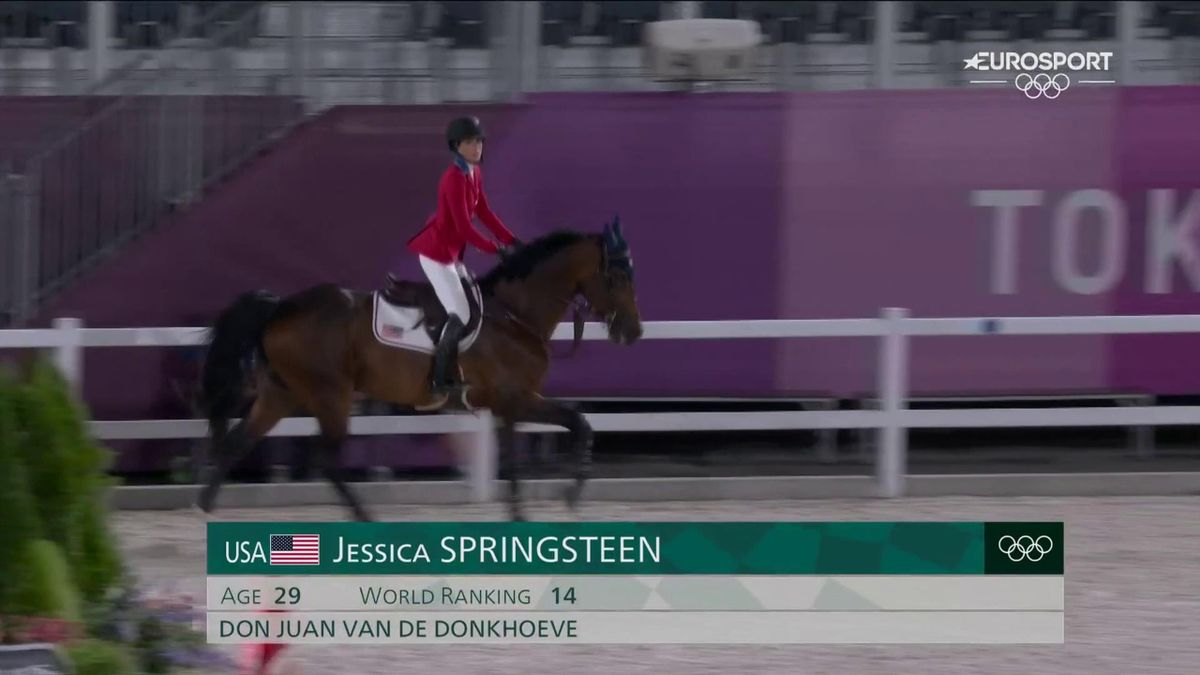 'She went clear' - Bruce Springsteen's daughter Jessica takes team showjumping silver