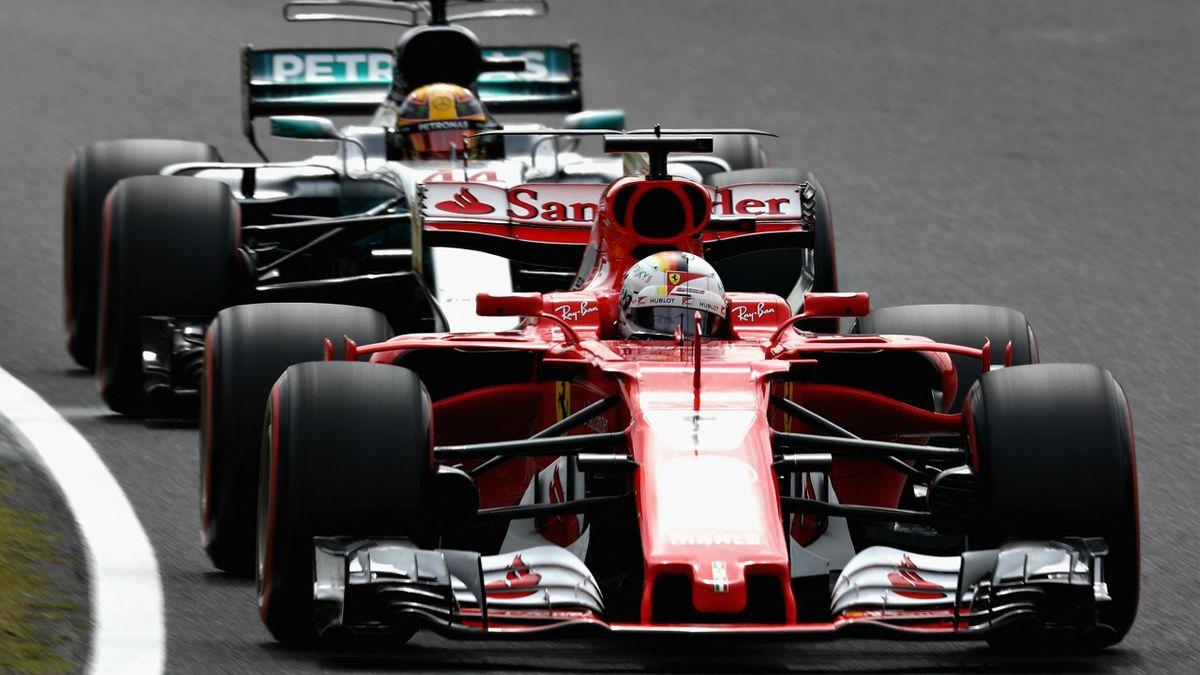Sebastian Vettel (Ferrari), Lewis Hamilton (Mercedes) - Grand Prix of Japan 2017