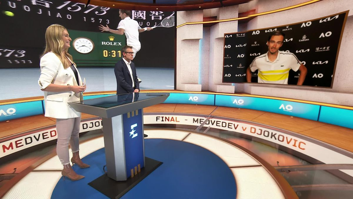 'I'm sure of my game' - Medvedev ready for final against Djokovic