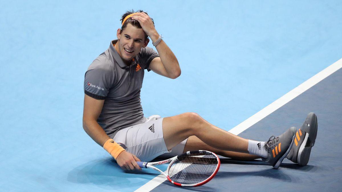 Dominic Thiem après sa victoire sur Novak Djokovic au Masters de Londres - ATP Finals