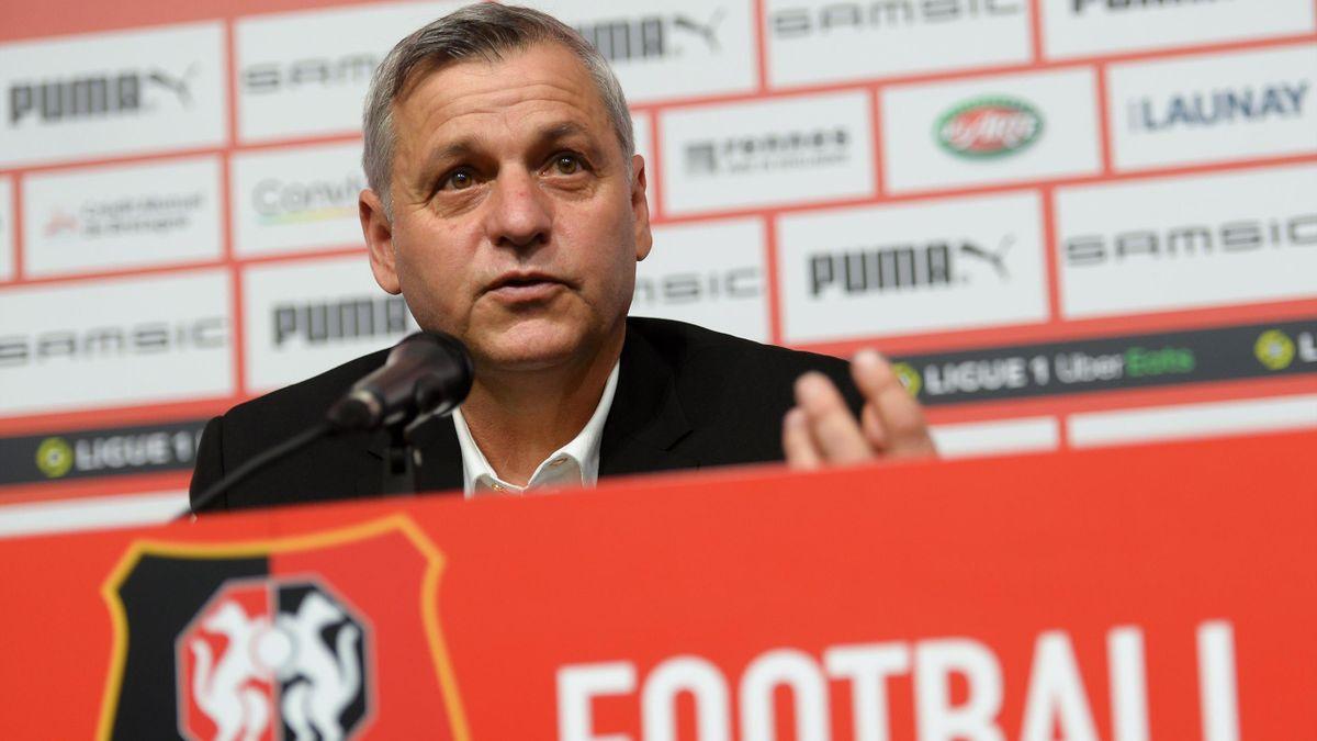 Bruno Genesio, l'entraîneur du Stade Rennais.