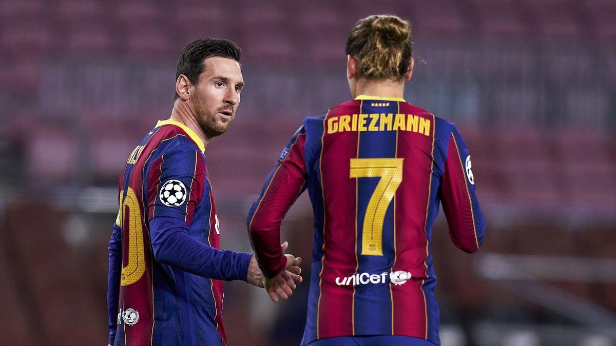 Lionel Messi (links) und Antoine Griezmann - FC Barcelona