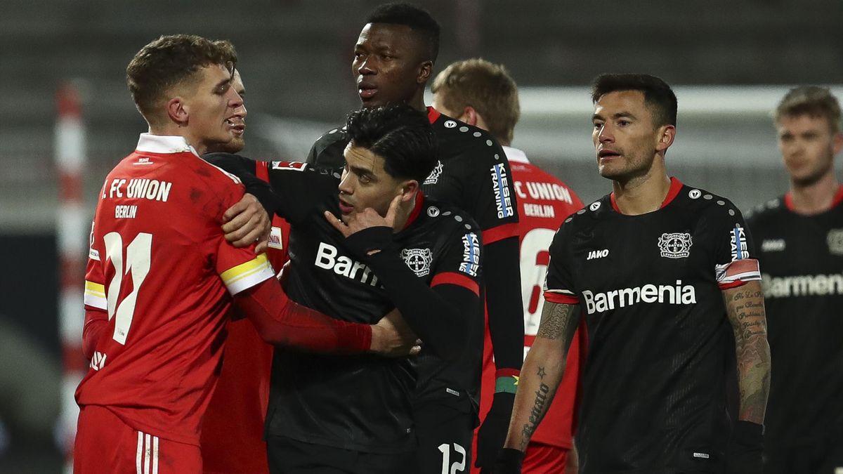 Nadiem Amiri  im Spiel gegen Leverkusen