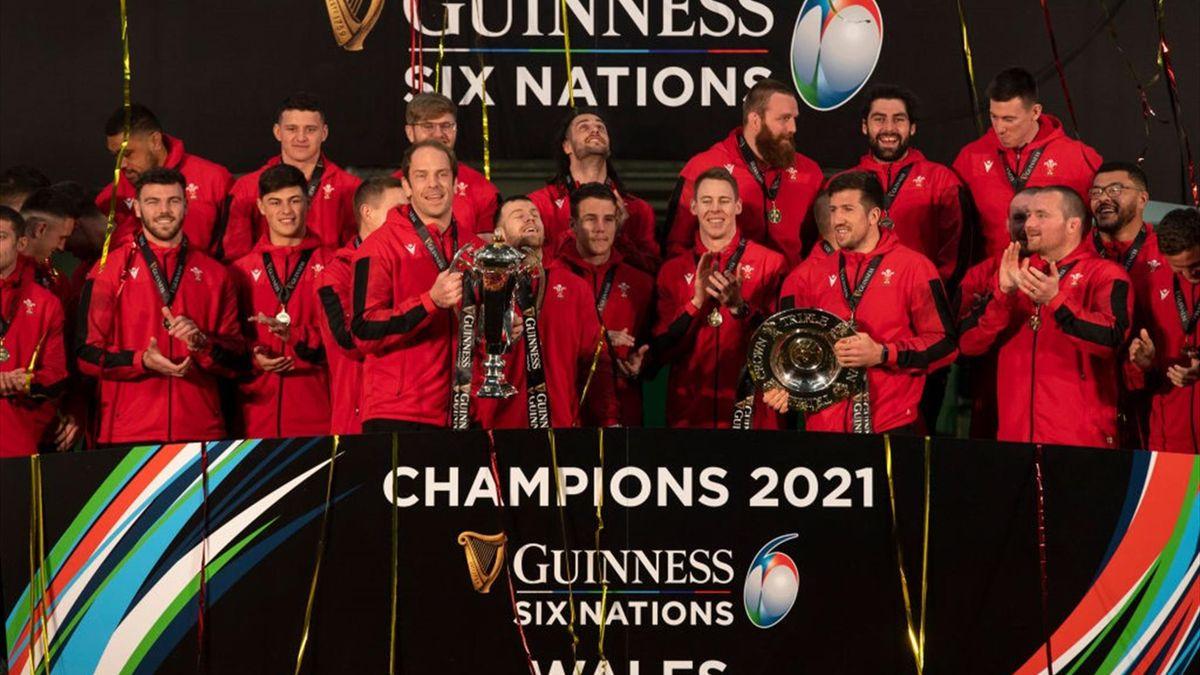 Il Galles festeggia la vittoria del Sei Nazioni 2021 - Getty Images