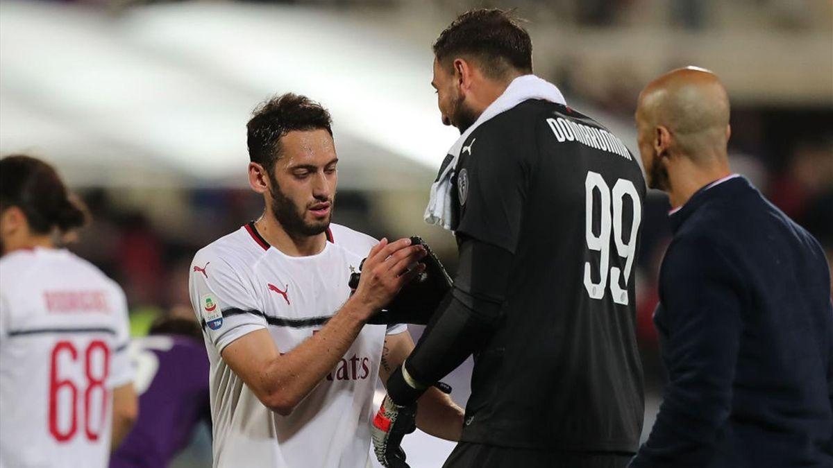 Donnarumma, Calhanoglu - Fiorentina-Milan - Serie A 2019/2020 - Getty Images