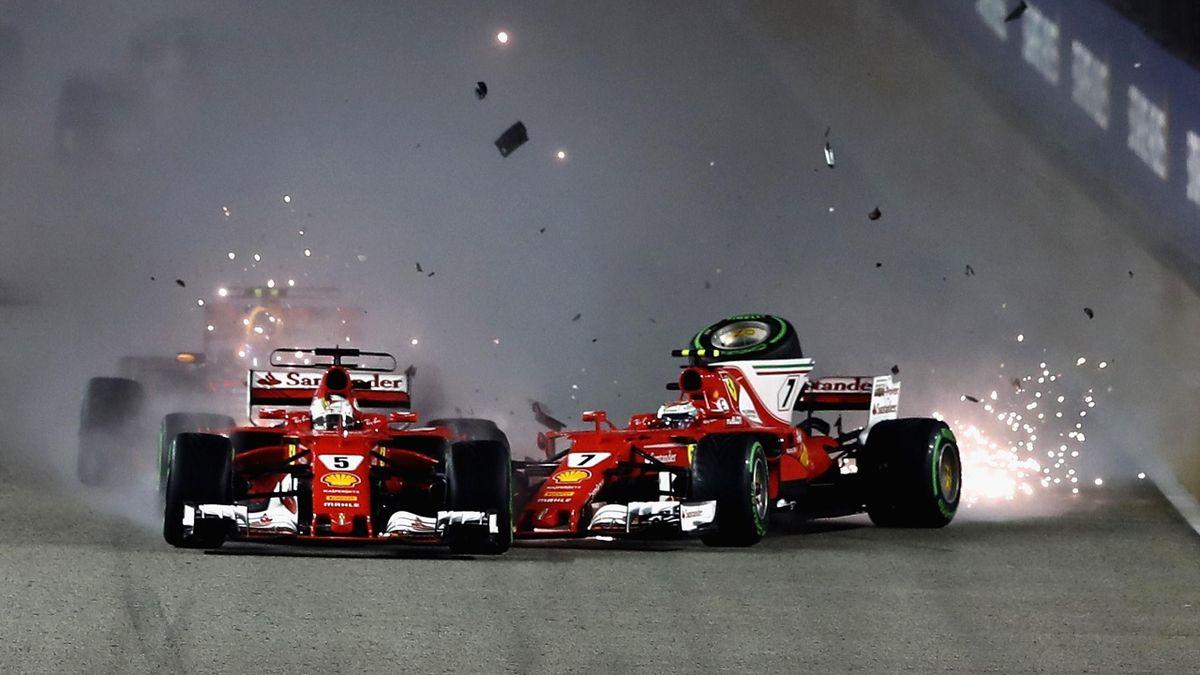 Doppel-Aus für Ferrari in Singapur