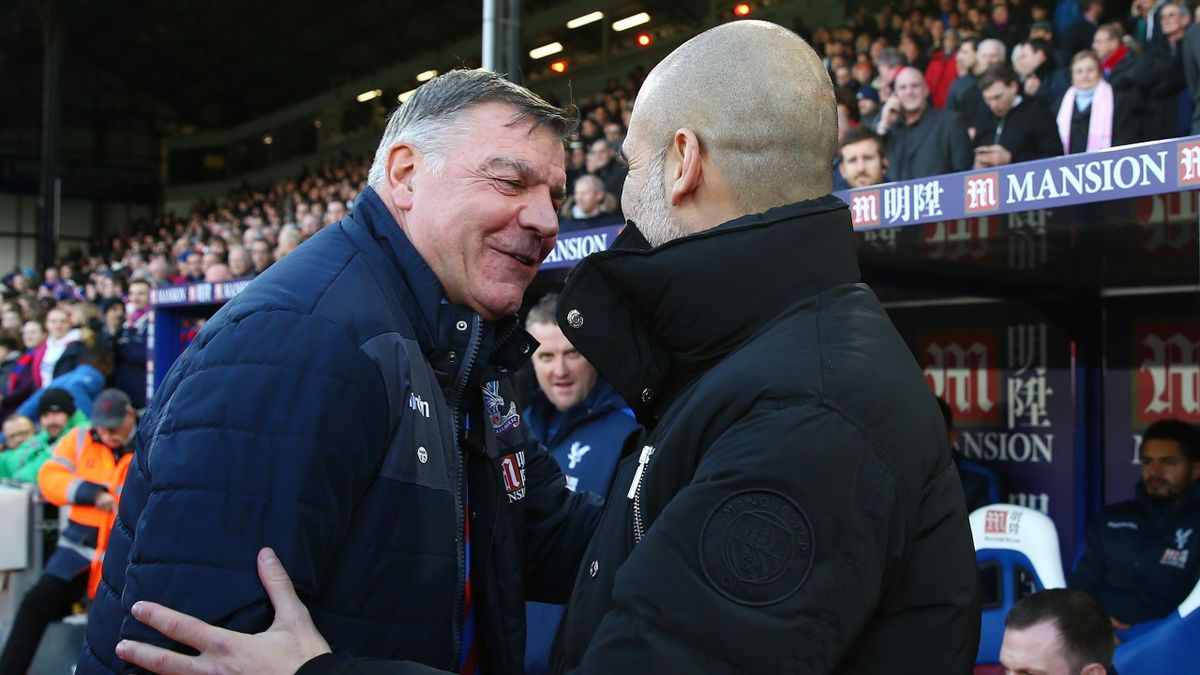 Sam Allardyce and Pep Guardiola