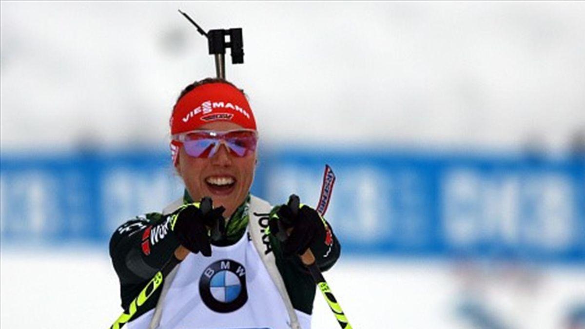 Laura Dahlmeier auf Platz Zwei