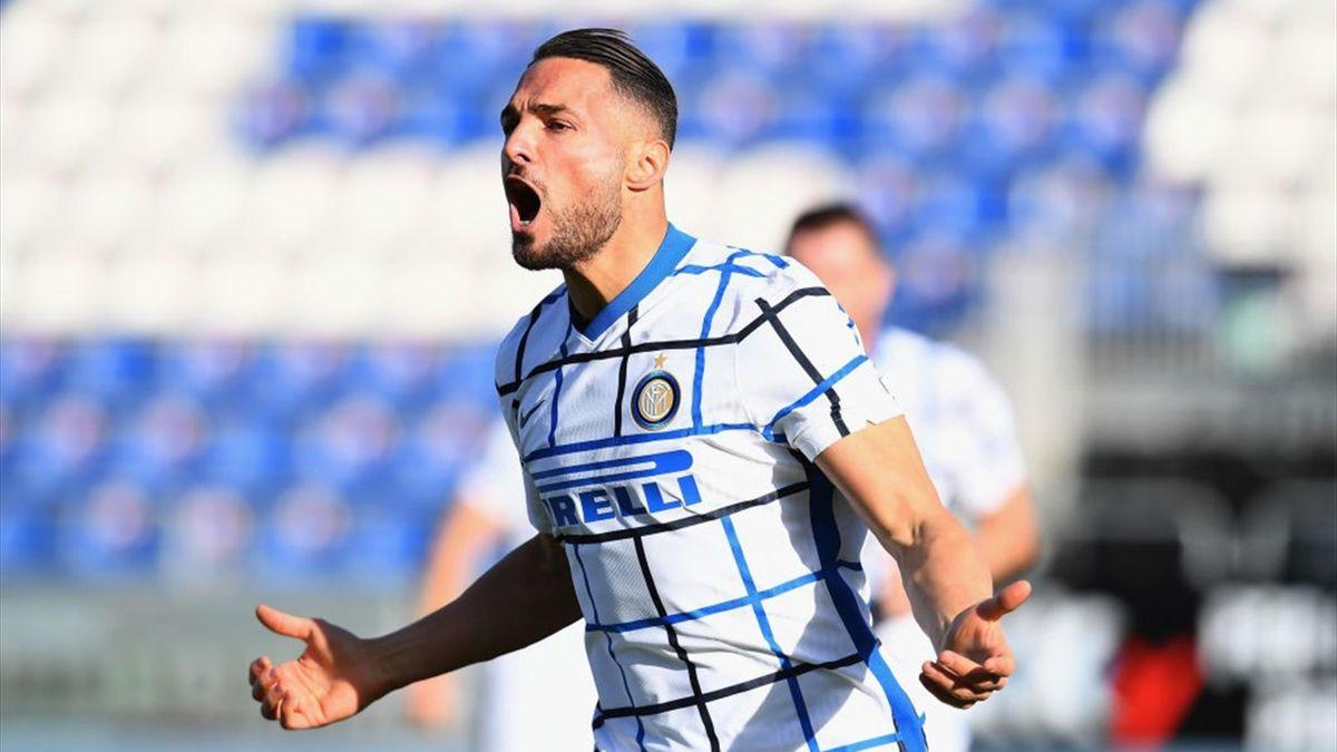 Danilo D'Ambrosio - Cagliari-Inter - Serie A 2020-2021
