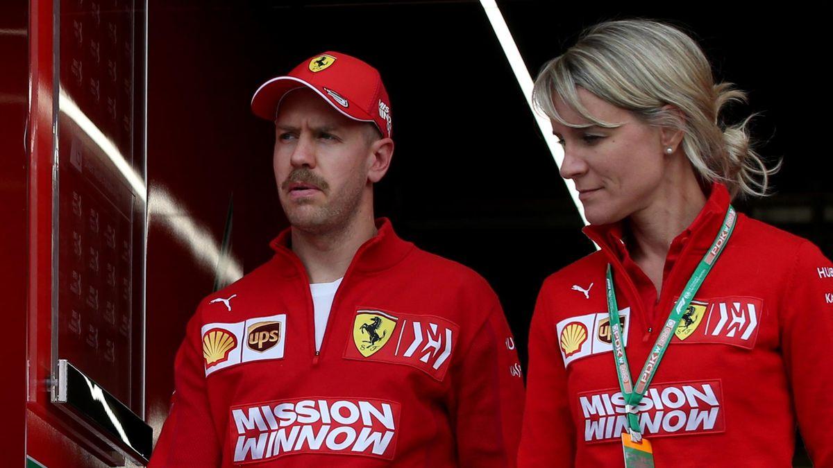 Sebastian Vettel (Ferrari) au Grand Prix de Chine 2019
