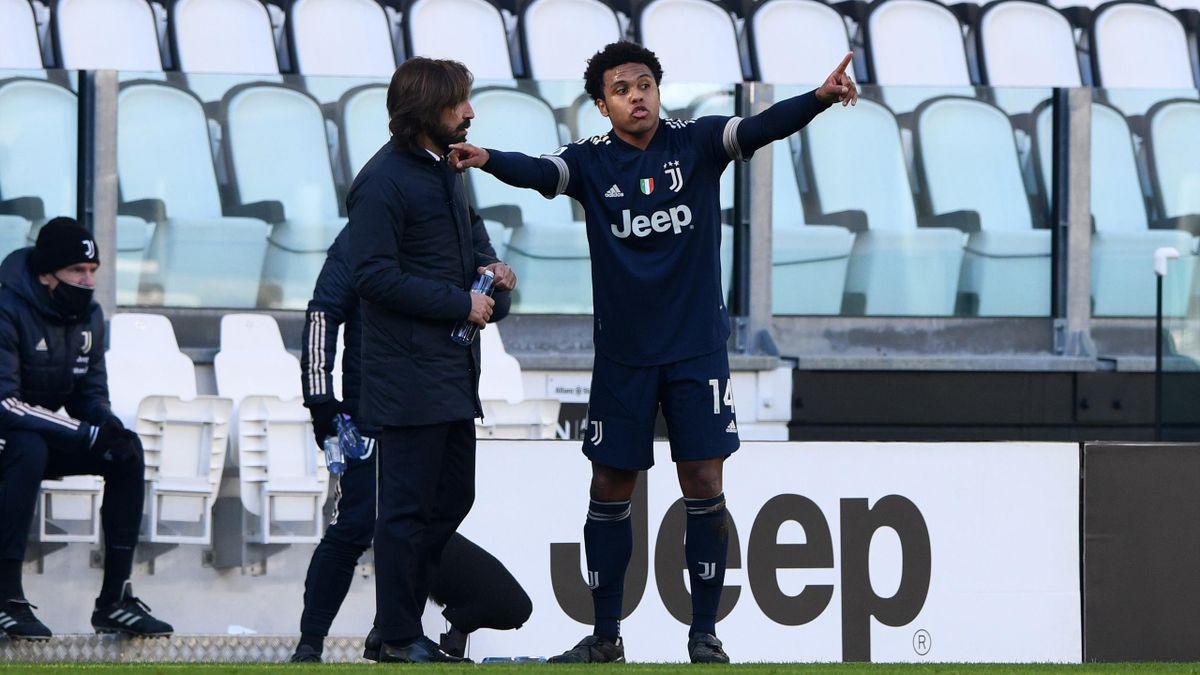 Andrea Pirlo insieme a Weston McKennie, Juventus, Getty Images
