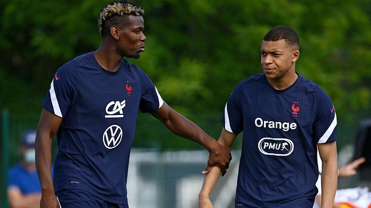 Paul Pogba and Kylian Mbappé.