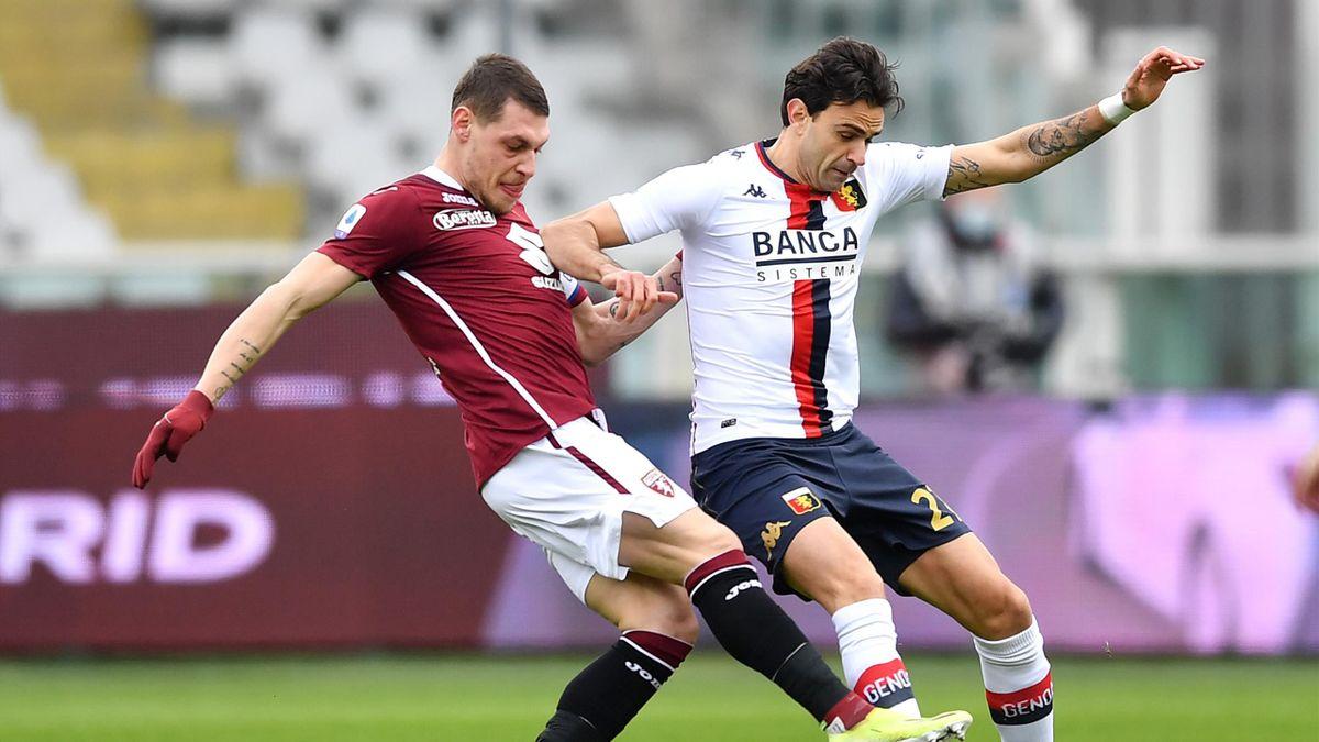 Andrea Belotti, Ivan Radovanovic, Torino-Genoa, Getty Images