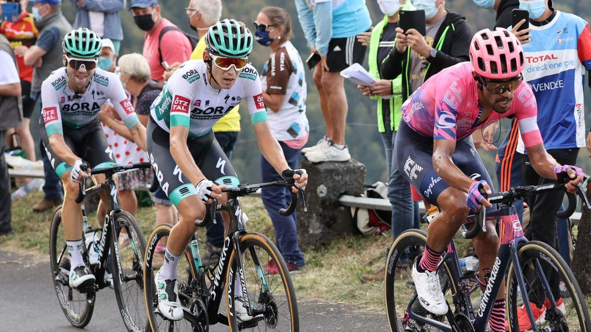 Lennard Kämna, Max Schachmann, Daniel Martinez bei der Tour de France 2020
