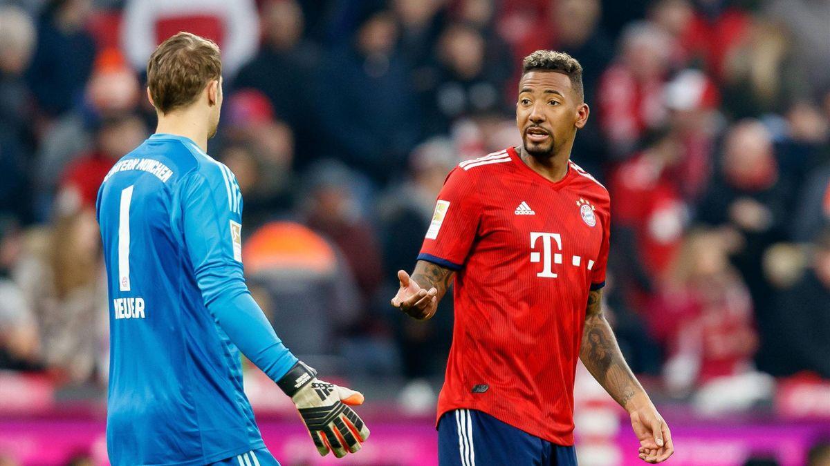 Jérôme Boateng mit Manuel Neuer (FC Bayern München)