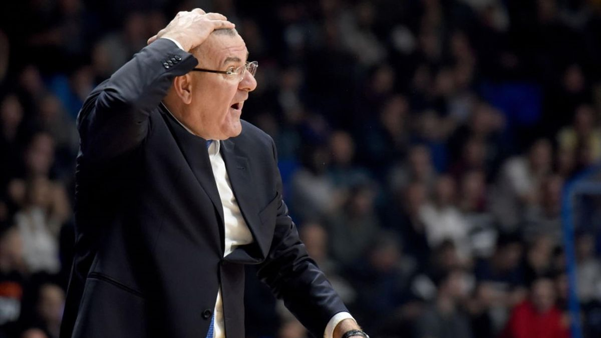 Jasmin Repesa, Head Coach of Buducnost Voli Podgorica in action during the 2018/2019 Turkish Airlines EuroLeague Regular Season Round 28 game between Buducnost Voli Podgorica and Anadolu Efes Istanbul