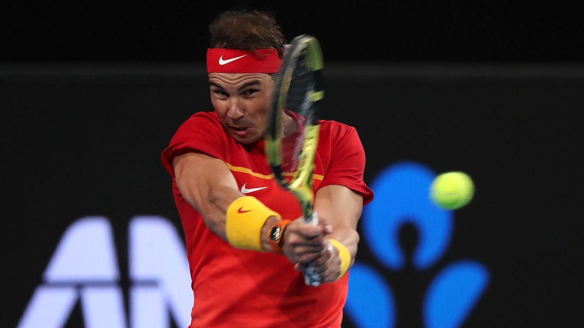 Rafael Nadal lors de l'ATP Cup 2020