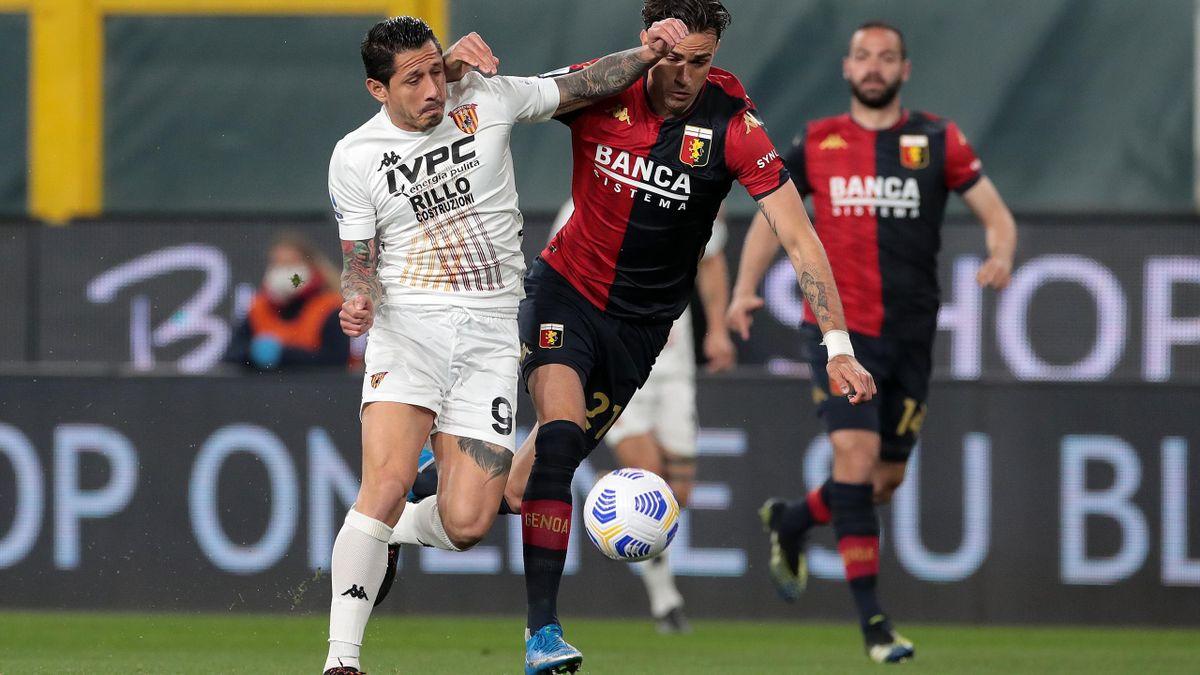 Lapadula contro Radovanovic, Genoa-Benevento