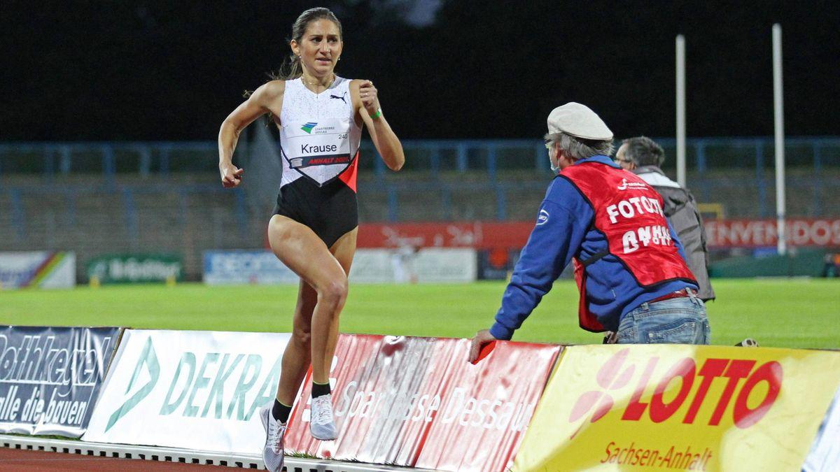Hindernisläuferin Gesa Felicitas Krause erfüllt über 3000m in Doha die Olympia-Norm