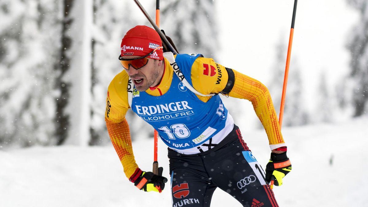 Arnd Peiffer bei der Biathlon-WM auf der Pokljuka