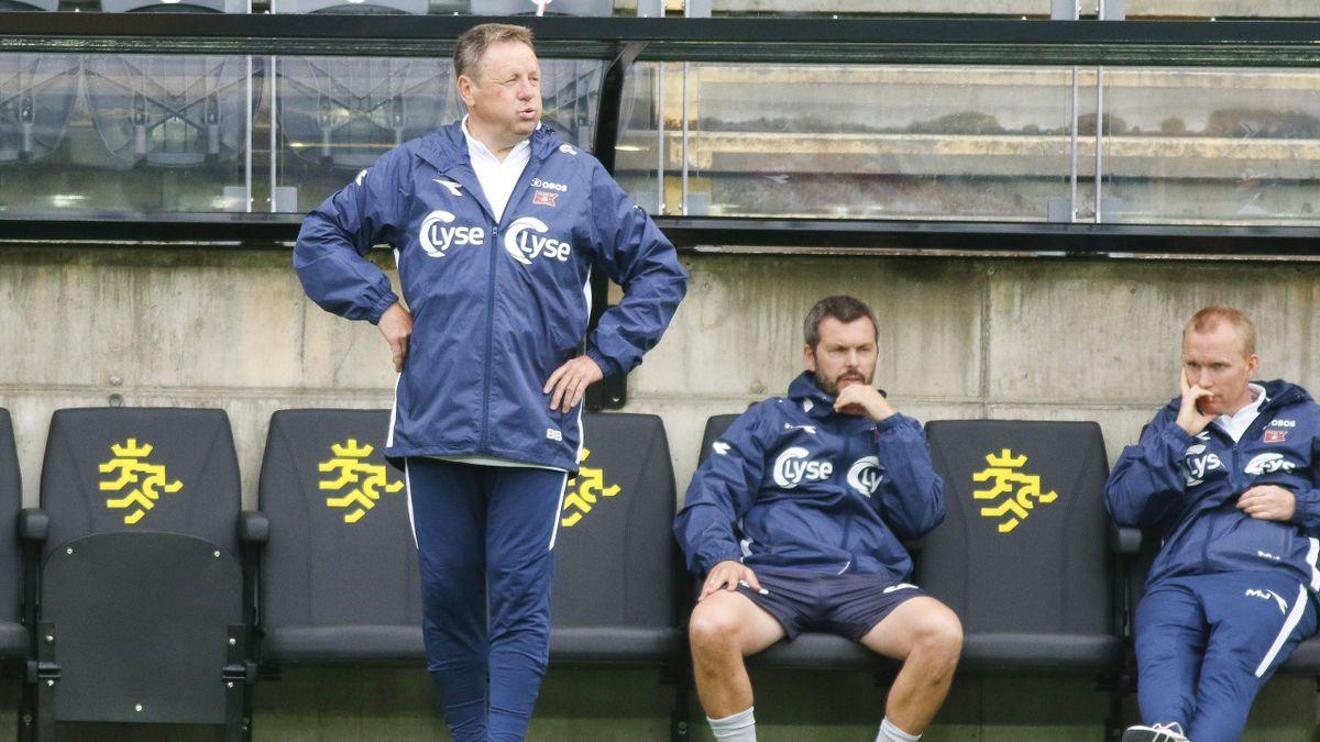 Bjarne Berntsen, Bjarte Lunde Aarsheim og Morten Jensen. De to siste kan bli Berntsens etterfølgere i Viking.