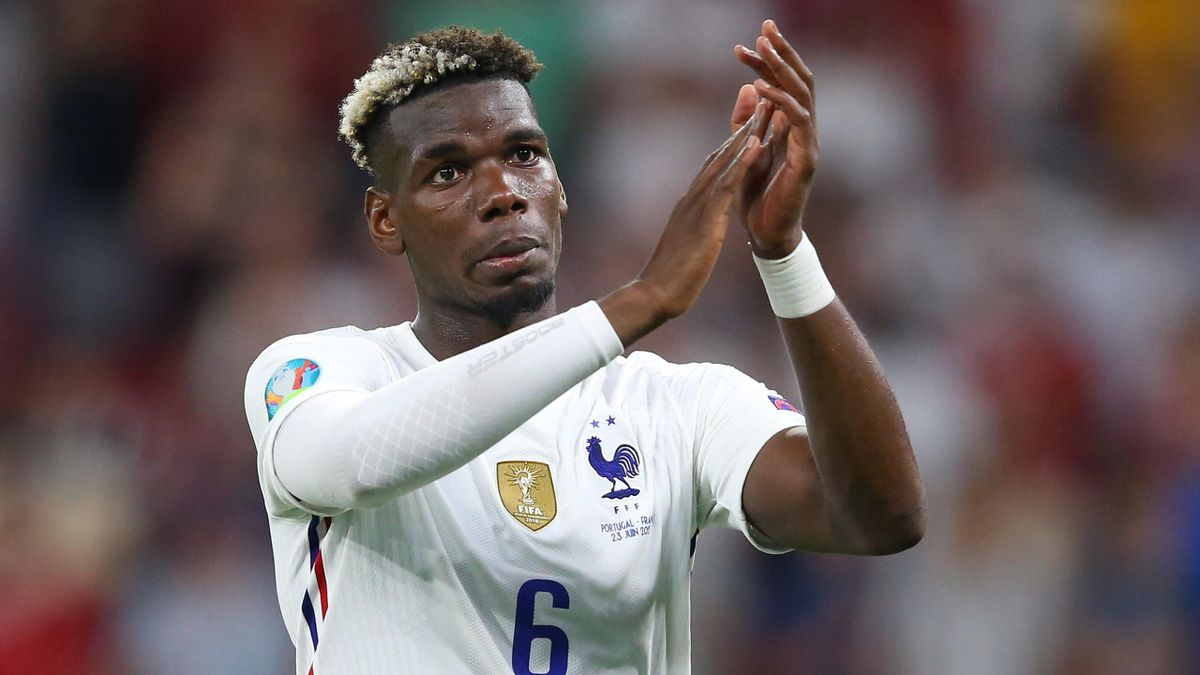 Paul Pogba of France applauds fans following the UEFA Euro 2020 Championship Group F match between Portugal and France
