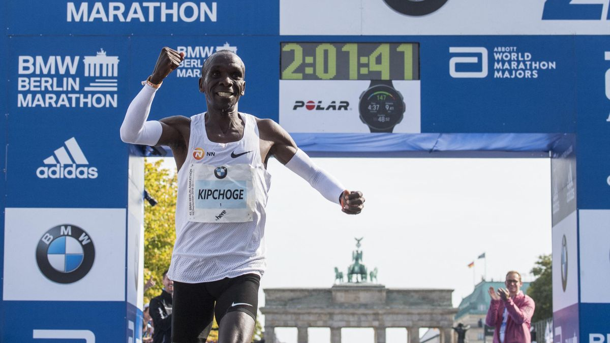 Eliud Kipchoge a 2018-as berlini maratonon - fotó: Jack MacDougall