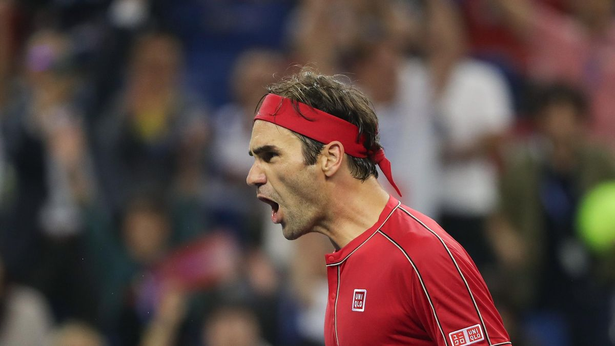 Roger Federer beim ATP-Masters in Shanghai