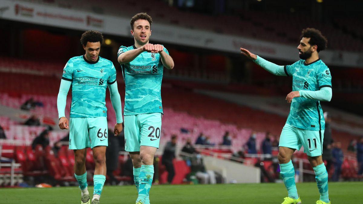 Diogo Jota, double buteur avec Liverpool face à Arsenal