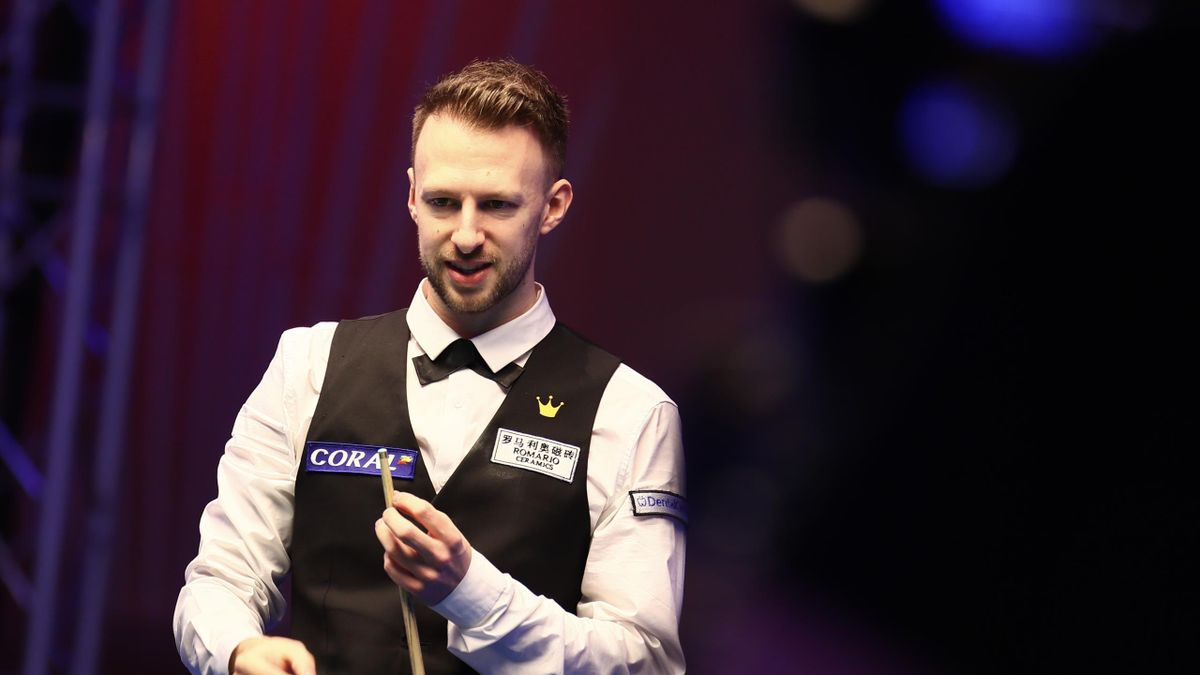 Judd Trump of England reacts