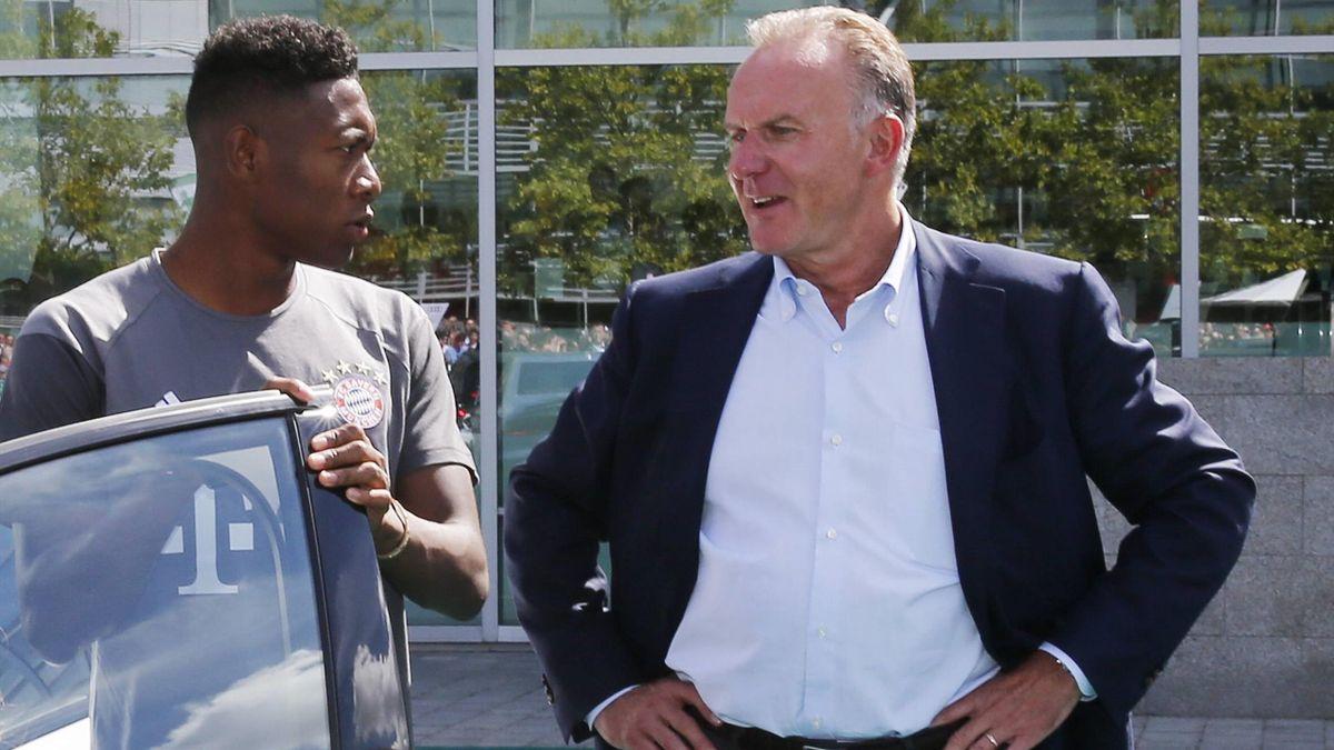 FC Bayern: Alaba im Gespräch mit Rummenigge
