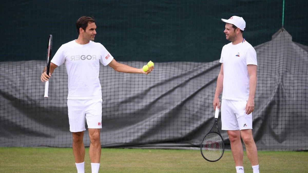Federer en Lüthi op Wimbledon 2019