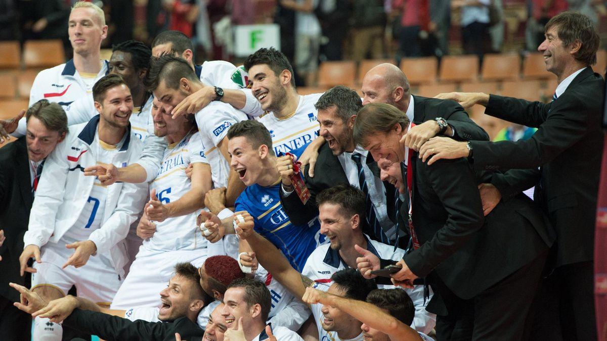 L'équipe de France, victorieuse de l'Iran, savoure sa qualification pour les demi-finales