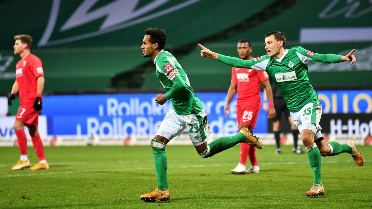 Werder Bremen bejubelt den Heimsieg gegen den FC Augsburg