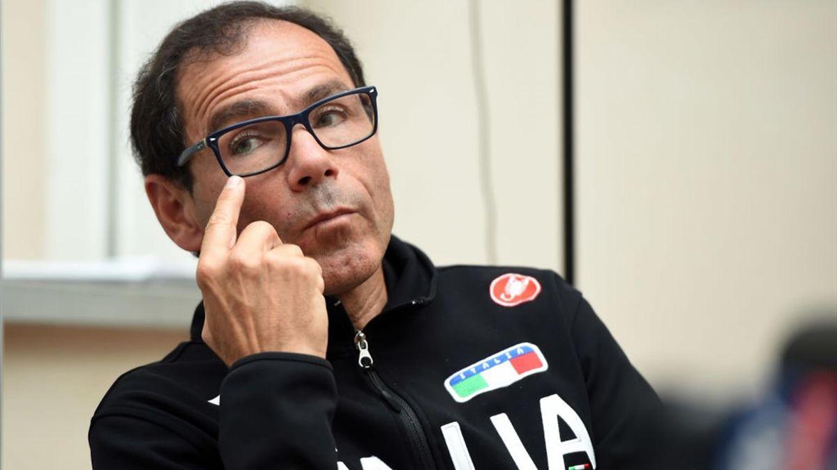Il ct della Nazionale italiana di ciclismo su strada Davide Cassani