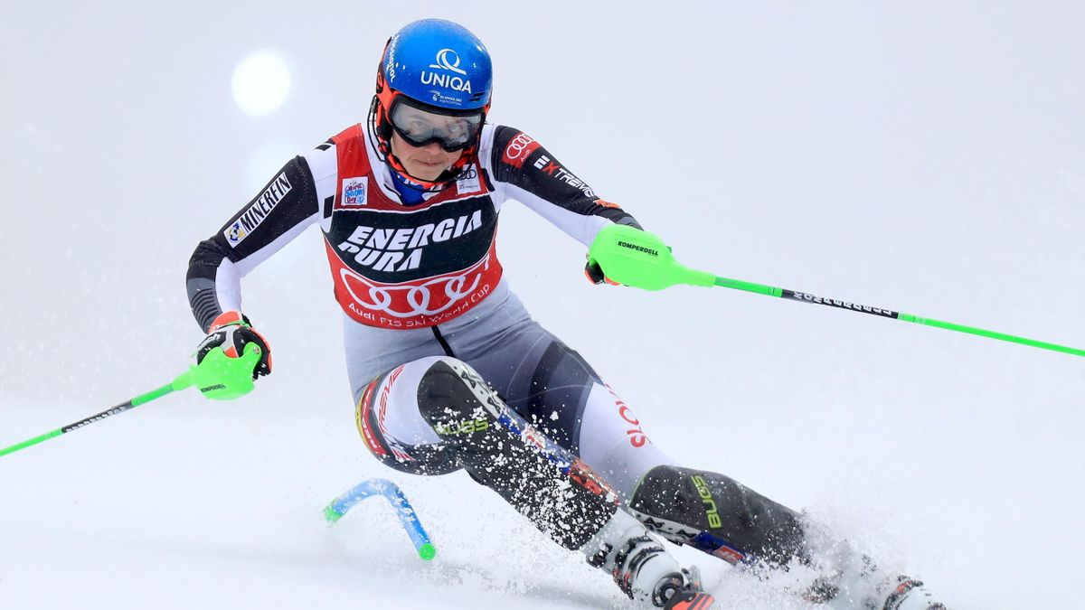 ZAGREB, CROATIA - JANUARY 03: Petra Vlhova of Slovakia during the Audi FIS Alpine Ski World Cup Slalom on January 3, 2021 in Zagreb, Croatia. (Photo by Slavko Midzor/Pixsell/MB Media/Getty Images)