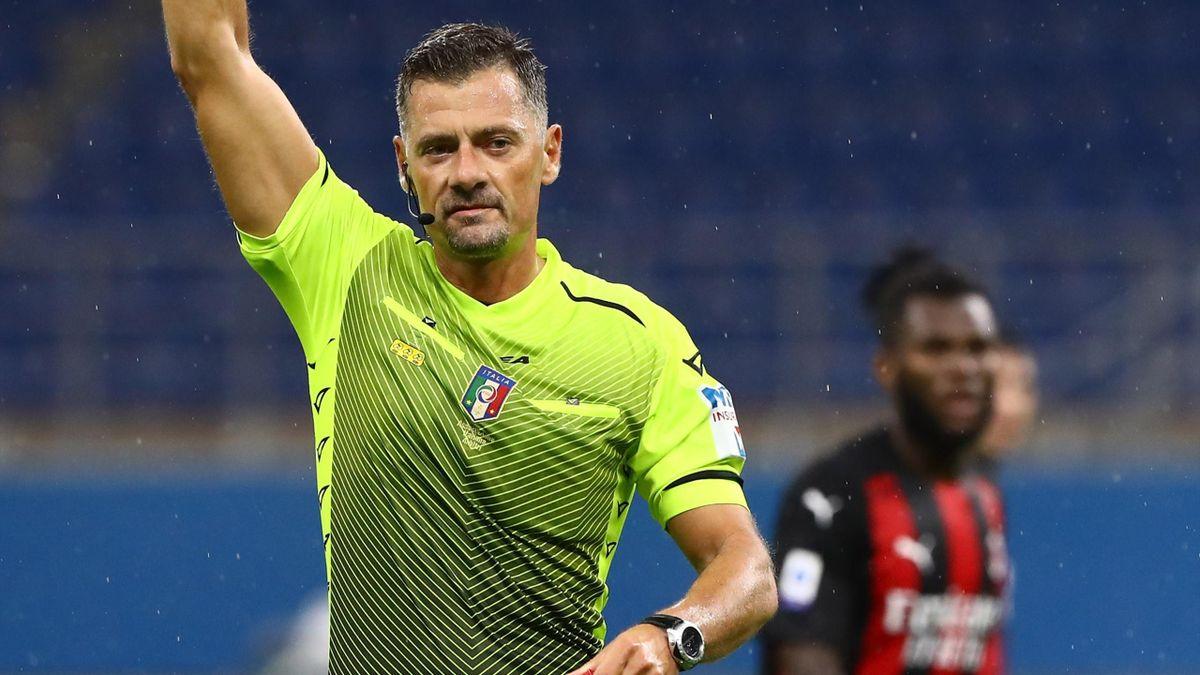Piero Giacomelli, Milan-Roma, Serie A 2020-2021, Getty Images