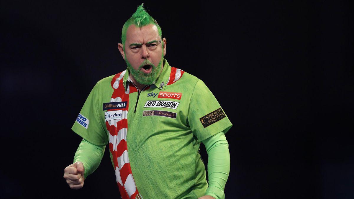 Peter Wright ist erfolgreich in die Darts-WM 2021 gestartet