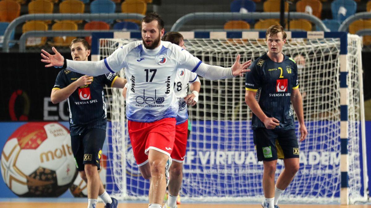 Александр Котов в матче Россия – Швеция
