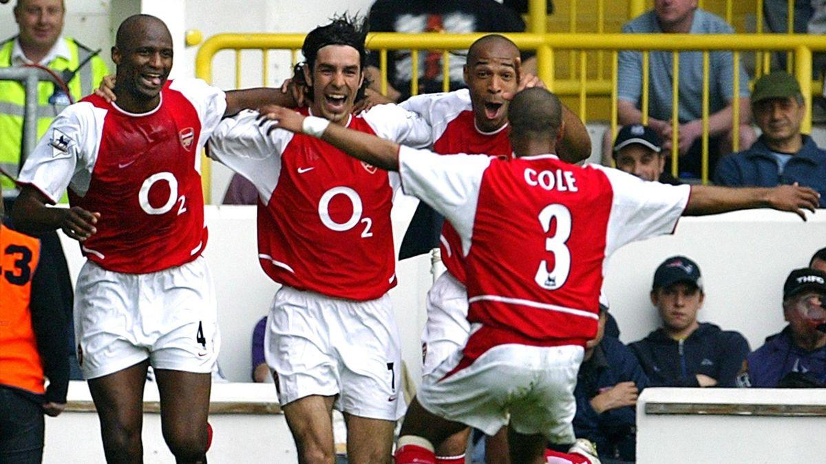 Vieira - Pires - Henry - Cole (Arsenal)